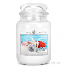 Goose Creek Premium Large Round Scented Candle Jar WHITE CORAL Double Wicked